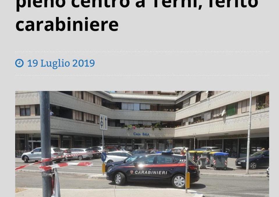 SPARA CON LA PISTOLA IN PIENO CENTRO A TERNI, FERITO CARABINIERE. INAMMISSIBILE
