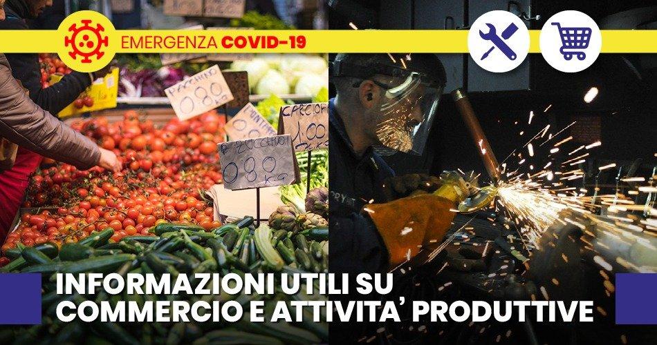 COVID-19, MISURE DI PREVENZIONE PER LE ATTIVITA'