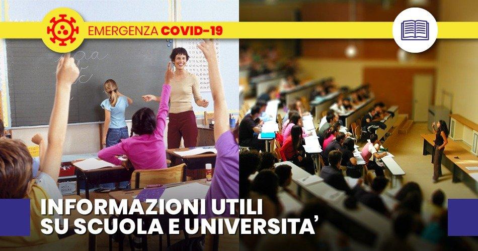 COVID-19, DOCUMENTO  SU IPOTESI RIMODULAZIONE MISURE CONTENITIVE A SCUOLA