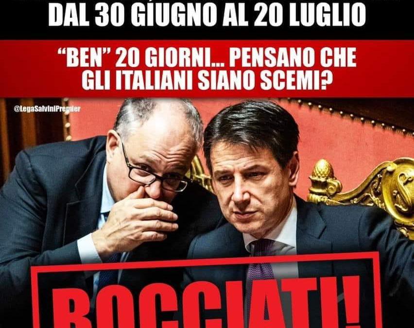 GOVERNO PRENDE IN GIRO ITALIANI CON UNA PROROGA DI SOLI 20 GIORNI PER PAGAMENTI IRPEF E IRES