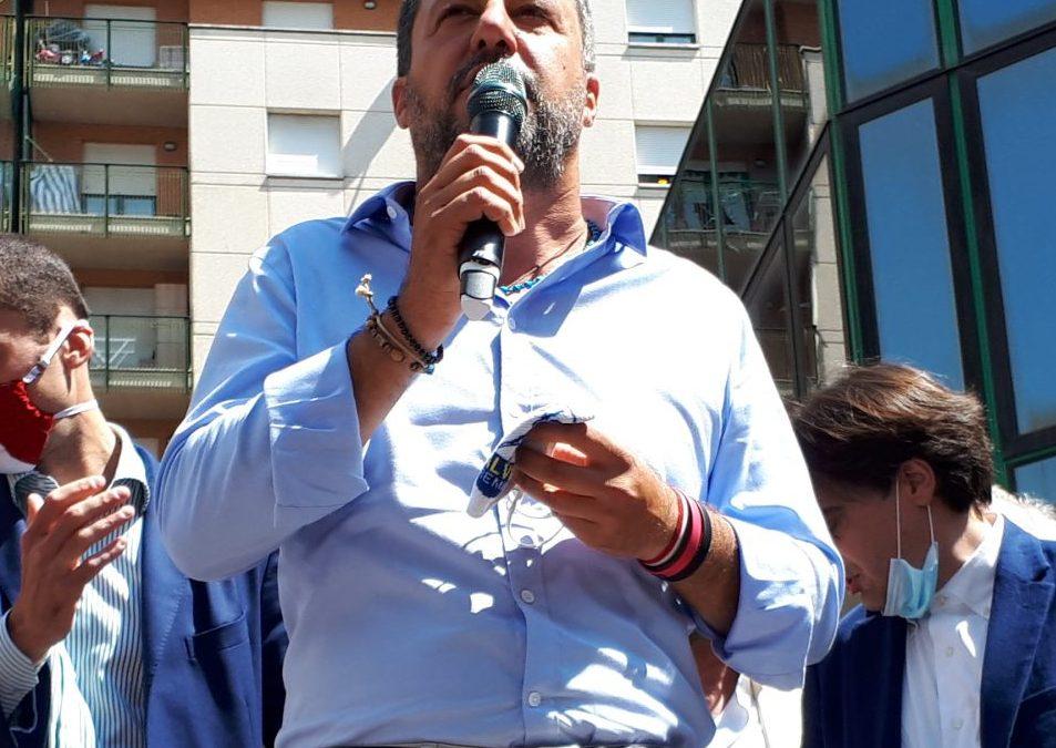 LEGA, INAUGURAZIONE SEDE FONTIVEGGE CON MATTEO SALVINI: PRESIDIO DI LIBERTA' E LEGALITA'