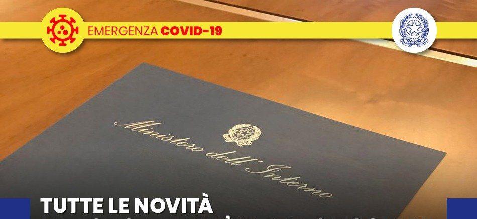COVID-19, 4 NOVEMBRE FIRMATO NUOVO DPCM VALIDO FINO AL 3 DICEMBRE 2020