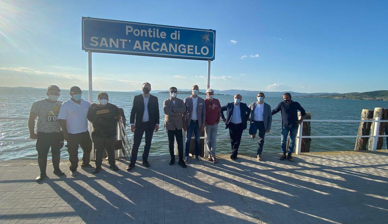 TRASIMENO, VISITA A PASSIGNANO E SANT'ARCANGELO CON ASSESSORE REGIONALE MELASECCHE