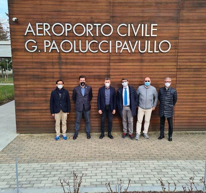 VISITA AEROPORTO PAVULLO, RISORSA IN TERMINI SPORTIVI, SOCIALI ED ECONOMICI